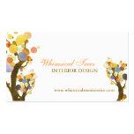 Unique Tree Theme Interior Design Business Cards
