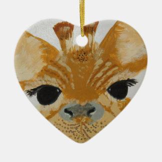 Unique Trendy Modern Eye Catching design Giraffe Christmas Ornament