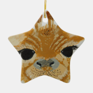 Unique Trendy Modern Eye Catching design Giraffe Christmas Ornament