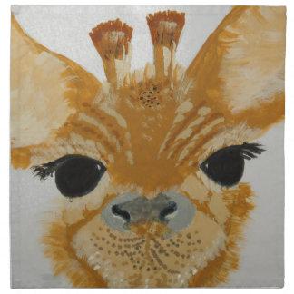 Unique Trendy Modern Eye Catching design Giraffe Napkin