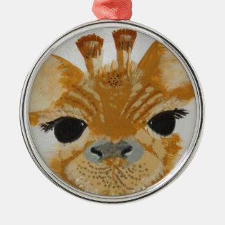 Unique Trendy Modern Eye Catching design Giraffe Silver-Colored Round Decoration