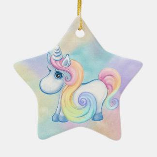 Unique Unicorn Pastel Cloud Christmas Ornament