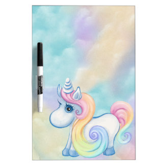 Unique Unicorn Pastel Cloud Dry Erase Board