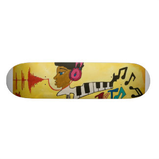 Unique urban abstract skateboard design