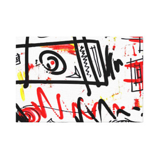 Unique Urban Abstract Stretched Canvas Print