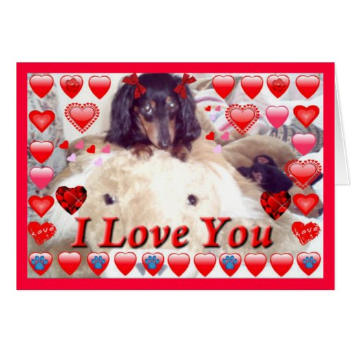 Unique valentines gifts dachshund greeting cards zazzle for Original valentines gifts for her