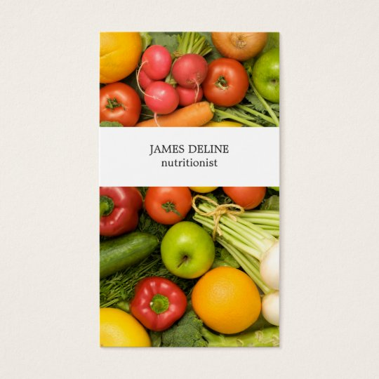 Unique Vegetables Nutritionist Business Card