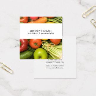 Unique Vegetables Nutritionist Square Business Card