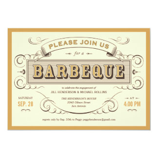 Unique Vintage BBQ Invitations