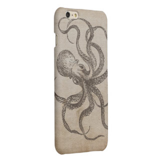 Unique Vintage Octopus Sea Creatures Ocean Animals iPhone 6 Plus Case