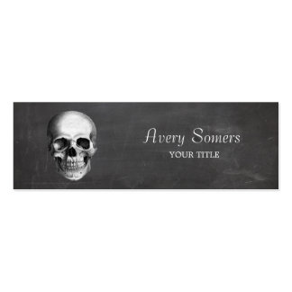 Unique Vintage Skull Etching Grungy Pack Of Skinny Business Cards