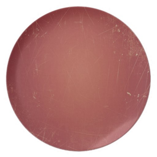Unique Vintage Style Red Paper Shabby Grunge Color Dinner Plate