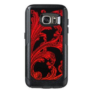 Unique Vintage Swirl Ombre Red Design OtterBox Samsung Galaxy S7 Case