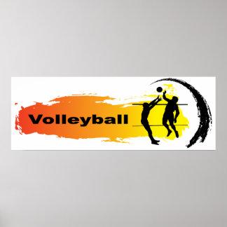 Unique Volleyball Emblem Poster