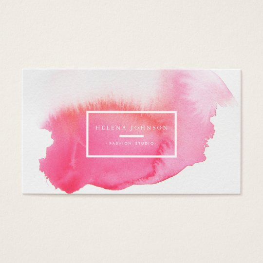★ Unique Watercolour Business Card