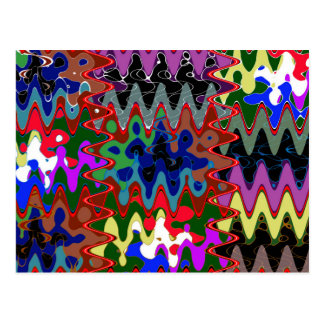 Unique Wave Pattern Lowprice  Party Giveaway gifts Postcard