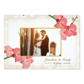 Unique Wedding Invitation Card Custom Photo