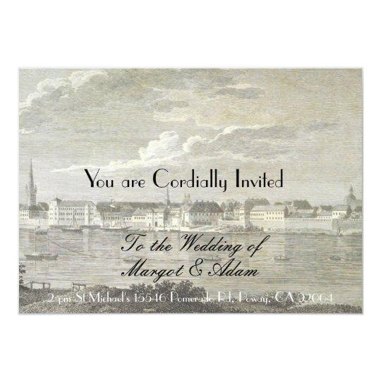 Unique Wedding Invitation, Soft, Vintage Card