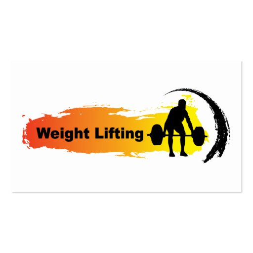 Unique Weight Lifting Logo Business Card