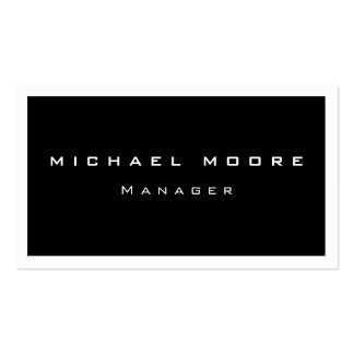 Unique White Border Black Trendy Business Card