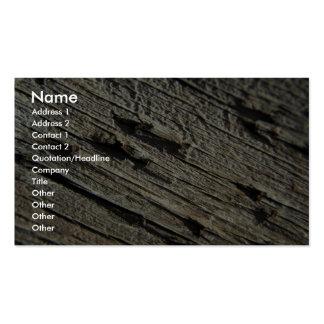 Unique Wood Grain Business Card