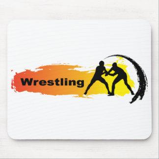 Unique Wrestling Emblem Mouse Pad