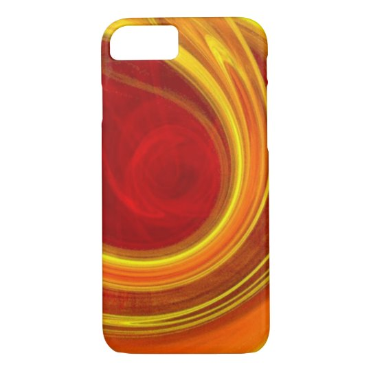 unique yellow marble sun rays laser lines ombre iPhone 8/7 case