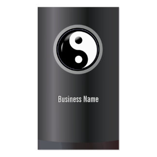 Unique Yin Yang Dark Business Card