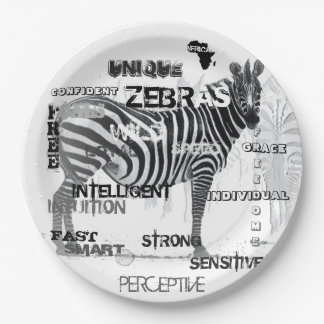 Unique Zebras Paper Plate