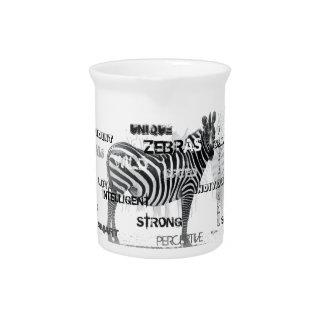 Unique Zebras Pitcher