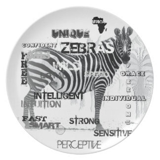 Unique Zebras Plate