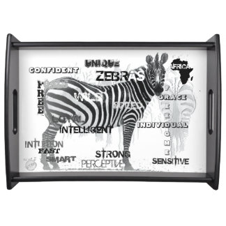 Unique Zebras Serving Tray