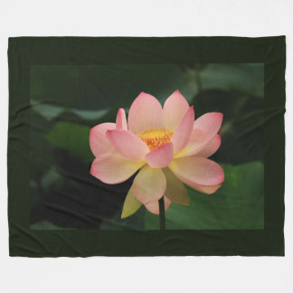Unique Zen Garden Pink Lotus Flower Fleece Blanket