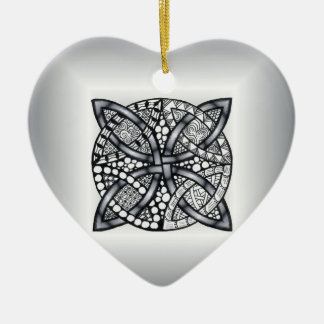 Unique Zentangle Inspired Celtic Knot Christmas Ornament