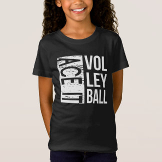 Unisex Ace Volleyball Kids Tee (black)