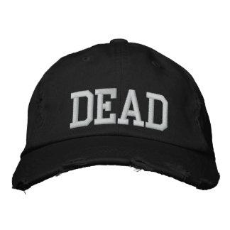 Unisex Black Dead Hat Embroidered Baseball Caps