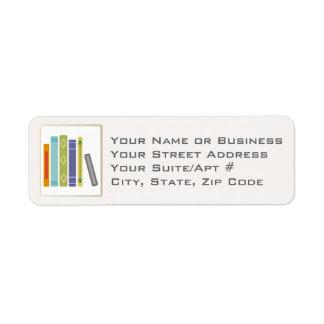 Unisex Book-Themed Return Address Labels