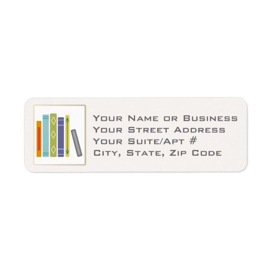 Unisex Book-Themed Return Address Labels