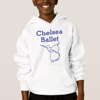 Unisex child Hoodie front (blue text)