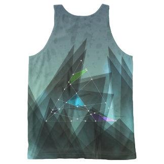 Unisex Festival Beach Vest Abstract Design