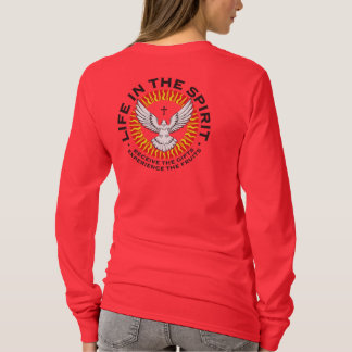 Unisex Front and Back Graphic On Red Ground T-Shirt