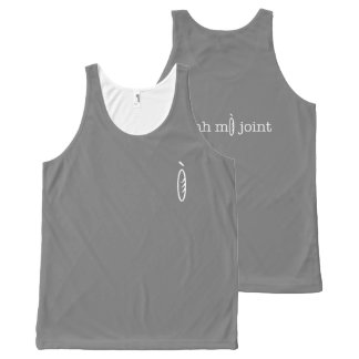 Unisex Grey Joint All-Over Print Tank Top