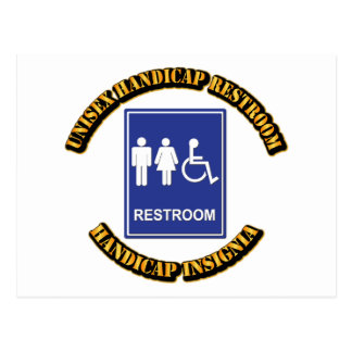 Unisex Handicap Restroom with Text Postcards