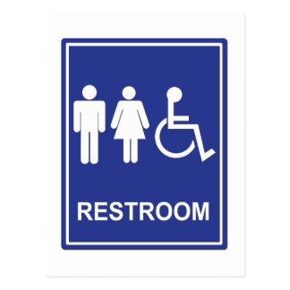 Unisex Handicap Restroom without Text Postcards