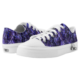 Unisex Low Top Shoes w. Digital Art 'Purple Trees' Printed Shoes