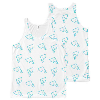 Unisex MMNH All Over Blue Elephant Print Tank Top