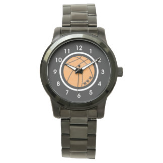 Unisex Monogram Basketball Watch Black Bracelet