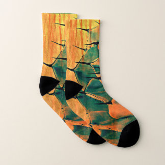 Unisex Orange/Green Cactus Socks