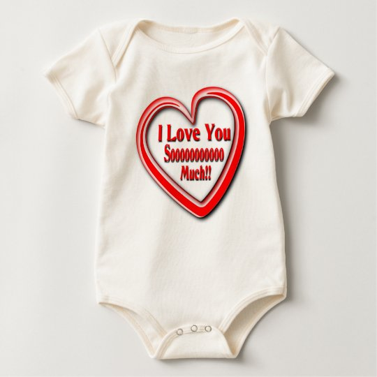 Unisex organic babysuit with Love text Baby Bodysuit