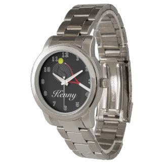 Unisex Oversized Silver Bracelet Tennis Watch